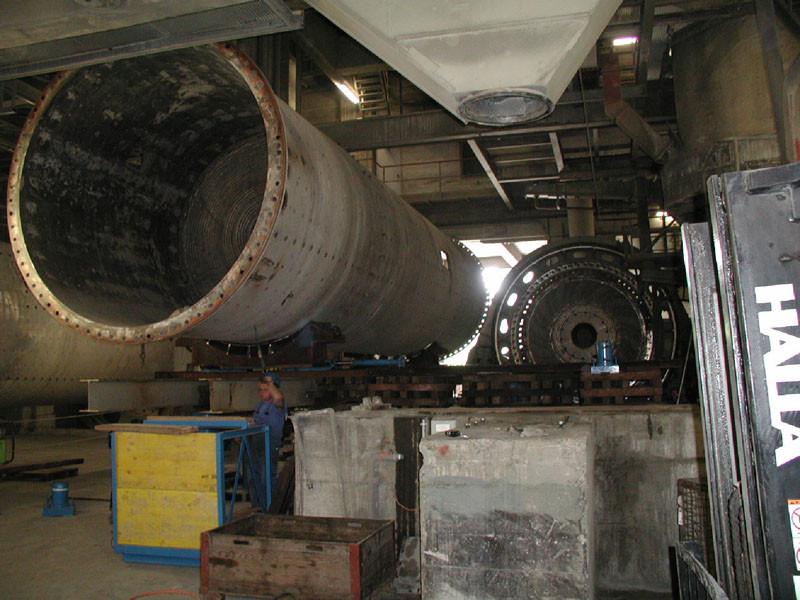 Portland Cement Ball Mill : Repair of a ball mill christof industries