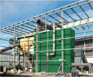 Components of biomass heating plants